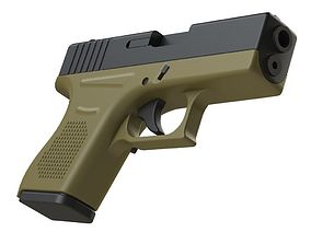 Glock 43 1-1 Scale 3D print model