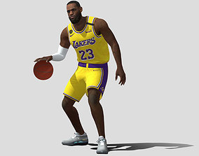Le Bron James basketball player 3D asset