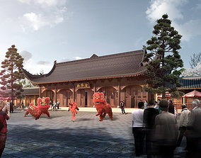 The Ancient Chinese Temples 020 3D model
