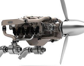 Contenental 550 Aircraft 3d Engine model