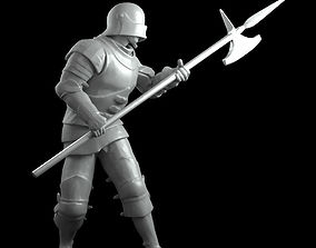 3D print model Alebardist later middle ages in battle