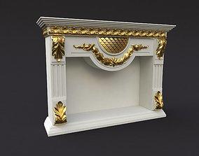 3D model elegant fireplace