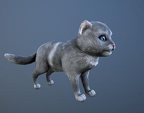 3D asset VR / AR ready Animated cat