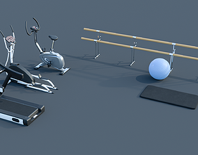 3D model Gym equipment training