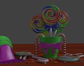 3D model Lollipop Candy Scene