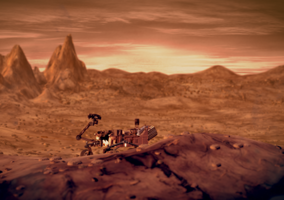 Mars like Landscape/Environment, with the curiosity rover from NASA