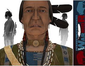 3D asset Native American Warrior