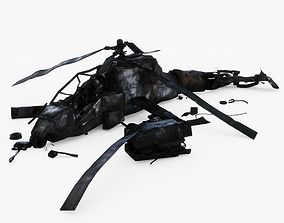 3D model Crashed Helicopter