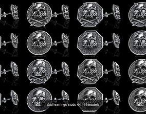 3D skull earrings studs 44