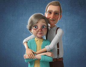 Cartoon Family Rigged V3 3D model