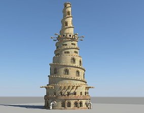 Tower of Babel pyramid 3D model
