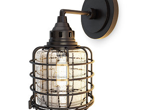 Industrial Wall Lamp Connell 3D model