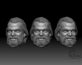 3D print model David Harbour head - Red guardian 4