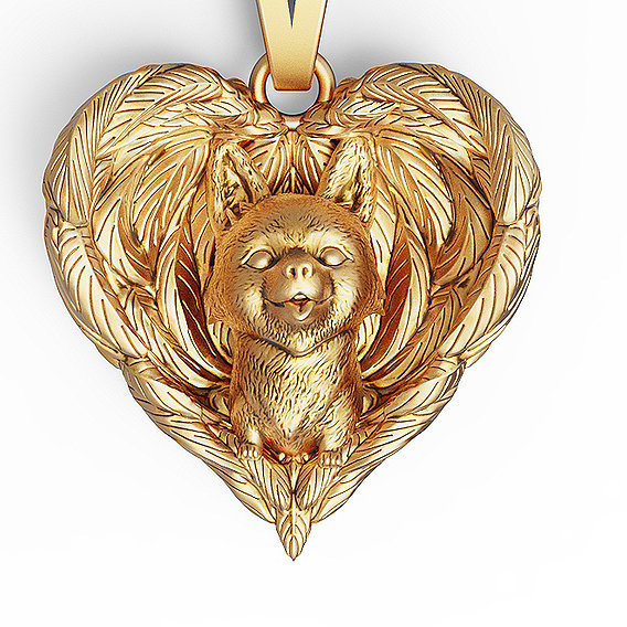 Dogs Are Angels Pendant Necklace 3D print model