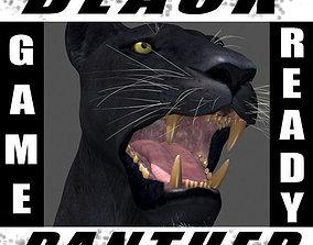 cat Panther no Fur - 3d model animated