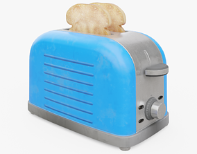Toaster with Toast 3D model