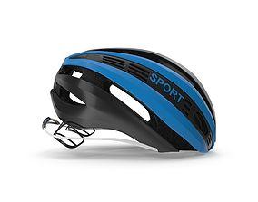 Blue Bicycle Helmet 3D model