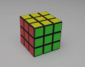 Rubik cube 3D asset