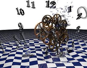 3D Clock Abstract shape