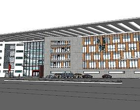 3D model Office-Teaching Building-Canteen 50