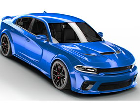 3D DODGE charger hellcat widebody 2020