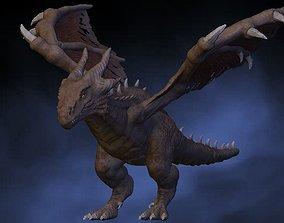 3D model Brown dragon