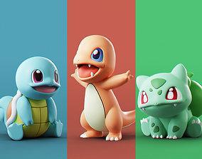 3D model toy Pokemon - Starters