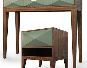 wood Nightstand dresser Cosmo 3D