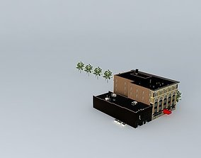3D block Apartment Building
