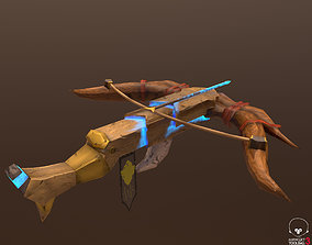 Crossbow 3D asset low-poly