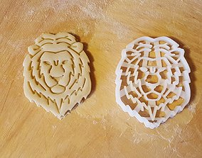 3D printable model wild Lion cookie cutter