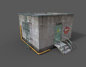 Roof Exit low-poly 3D model game-ready