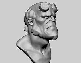 3D printable model Hellboy Bust v2