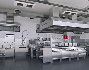 3D model Commercial Kitchen v1