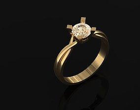 Wedding Ring 21K jewelry 3 3D print model