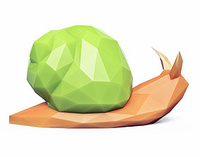 3D model Snail Low Poly