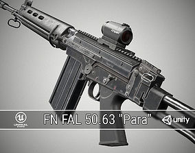 3D model PBR FN FAL
