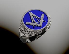 3D print model Free masons ring