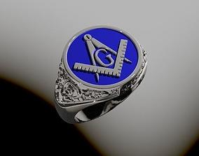 3D printable model Free masons ring