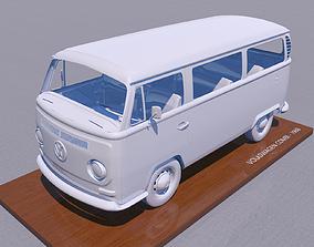 3D printable model VOLKSWAGEN BAY WINDOW TYPE 2 1969