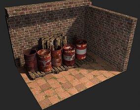 Barrel dirty 3D model PBR