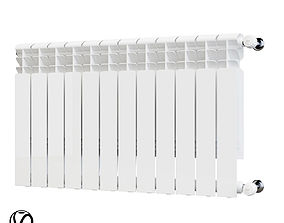 3D model Aluminum radiator