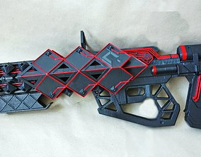 Outbreak Prime pulse rifle prop from 3D printable model