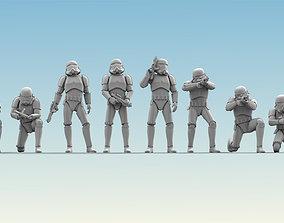 8 Figure Stormtrooper Printable Set-01 3D model