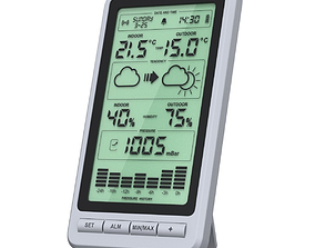 3D Digital home weather station