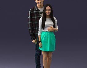 Young couple 0068 3D Print Ready realistic