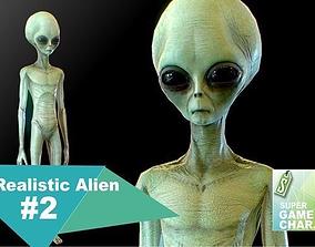Realistic Alien 2 3D model