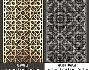 Arabic decorative panel 5 3d model and vector format