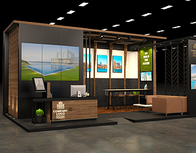 real estate VIP exhibition stand 8x5m 3D