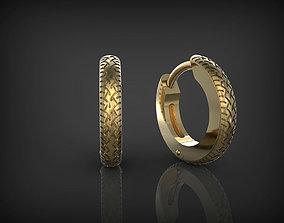 3D printable model Earrings Wheels 02
